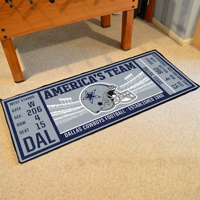 "NFL - Dallas Cowboys Ticket Runner 30""x72"""