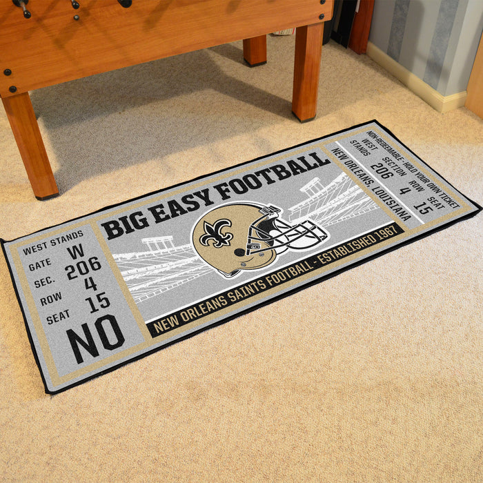 "NFL - New Orleans Saints Ticket Runner 30""x72"""