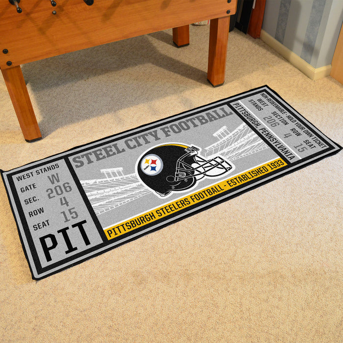 "NFL - Pittsburgh Steelers Ticket Runner 30""x72"""