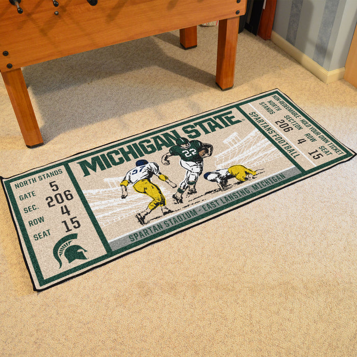 "Michigan State University Ticket Runner 30""x72"""