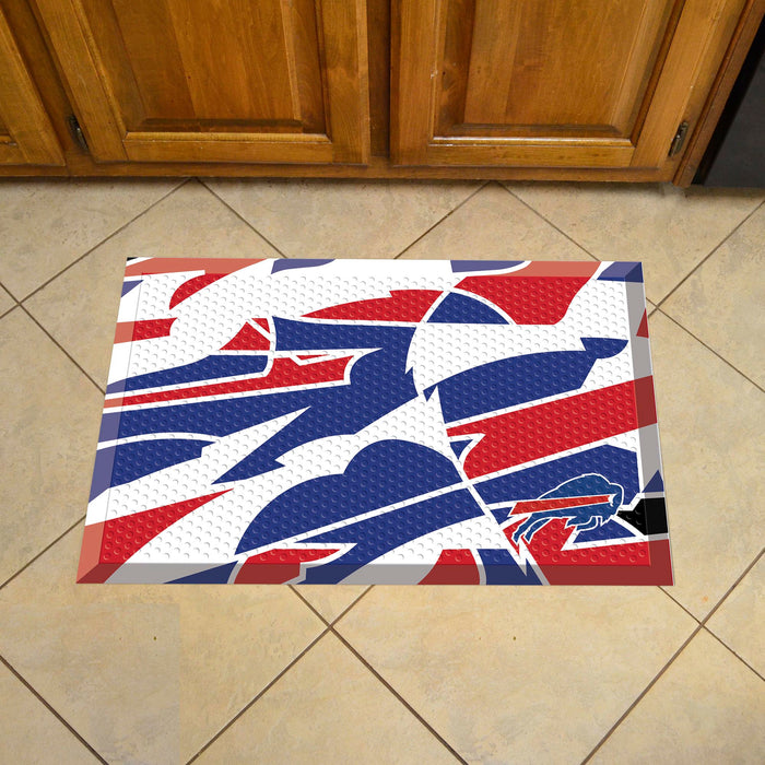 "NFL - Buffalo Bills Indoor/Outdoor Scraper Mat 19""x30"" - NFL XFIT Design"