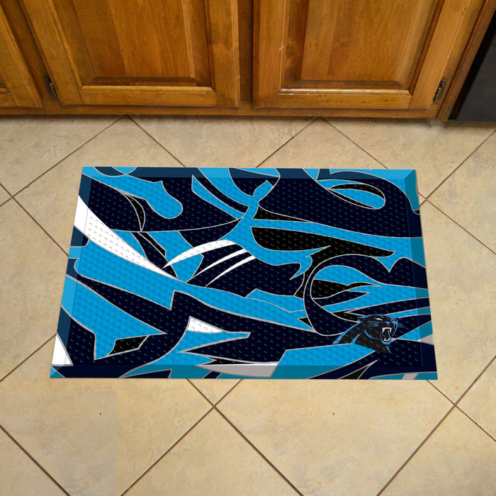 "NFL - Carolina Panthers Indoor/Outdoor Scraper Mat 19""x30"" - NFL XFIT Design"