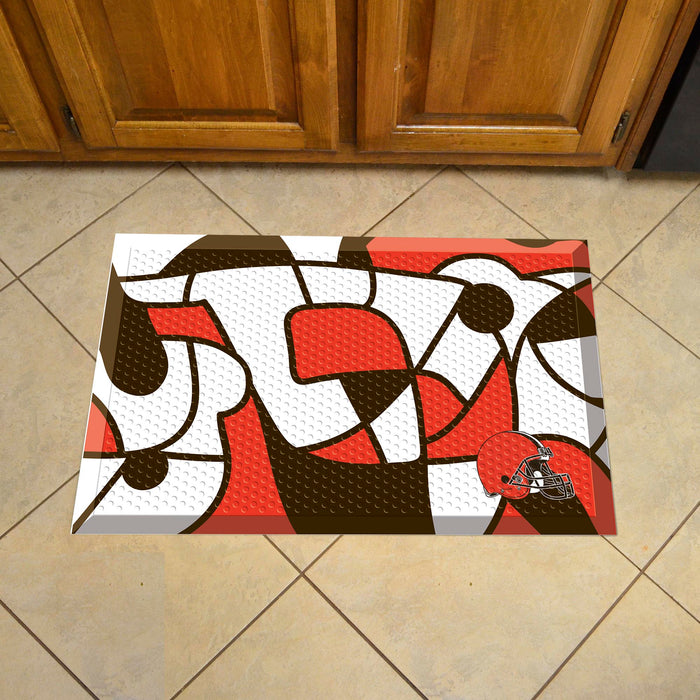 "NFL - Cleveland Browns Indoor/Outdoor Scraper Mat 19""x30"" - NFL XFIT Design"