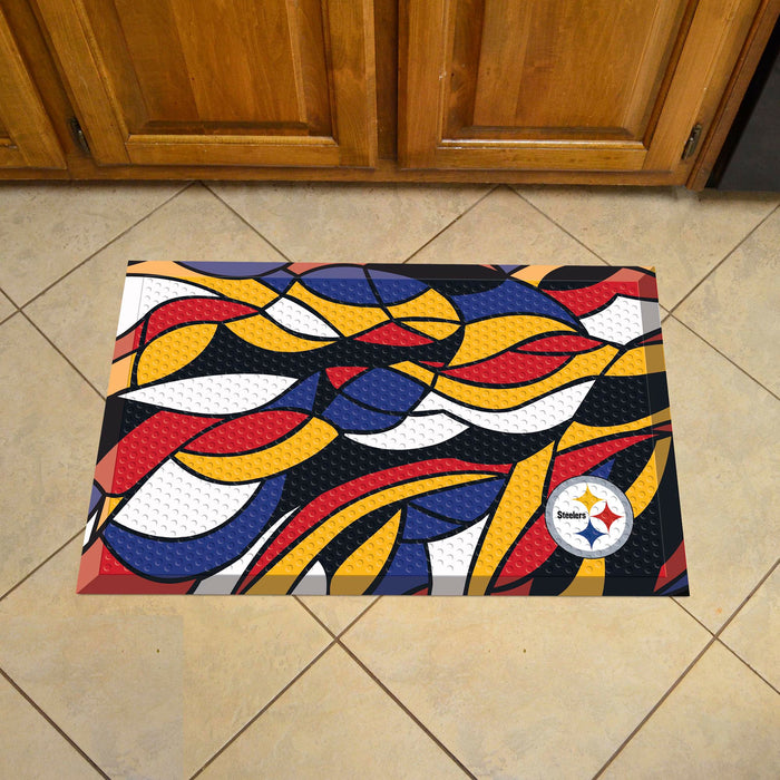 "NFL - Pittsburgh Steelers Indoor/Outdoor Scraper Mat 19""x30"" - NFL XFIT Design"