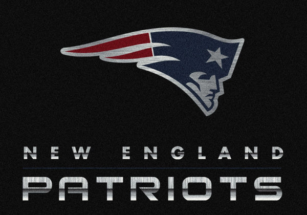 New England Patriots Chrome Area Rug Fan Cave Rugs