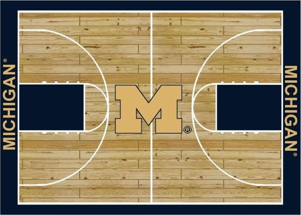 Michigan Rug Team Home Court - Fan Cave Rugs