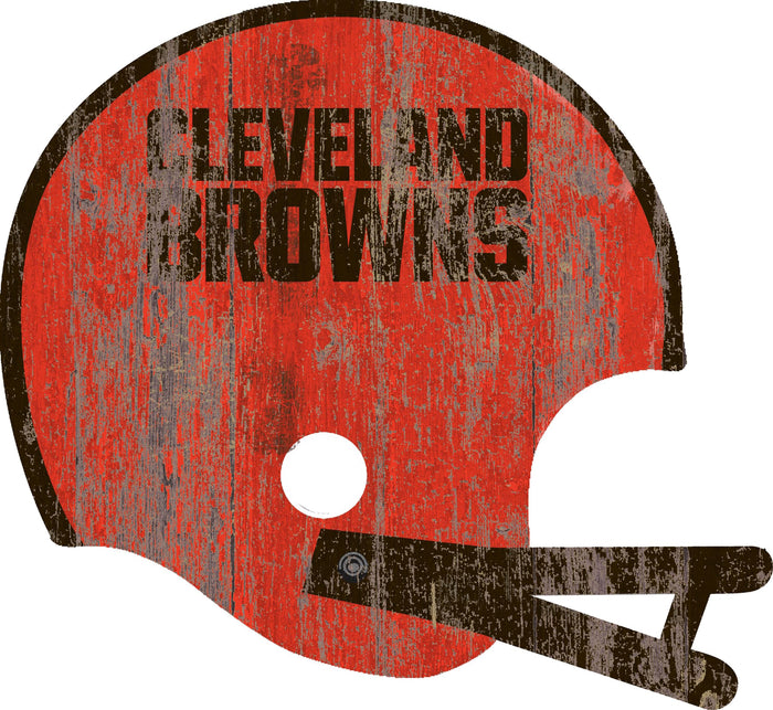 "Fan Cave Rugs:Cleveland Browns Distressed Helmet Cutout 24"" Wall Art"