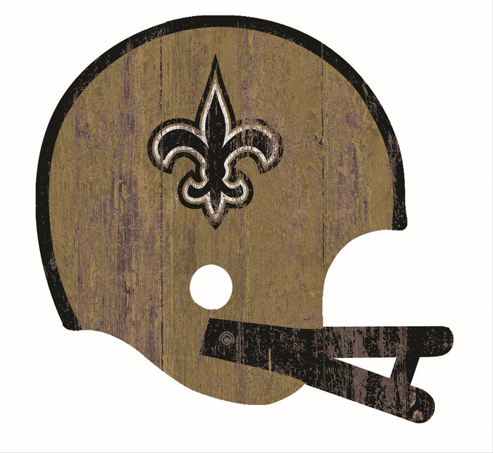 "New Orleans Saints Distressed Helmet Cutout 24"" Wall Art"