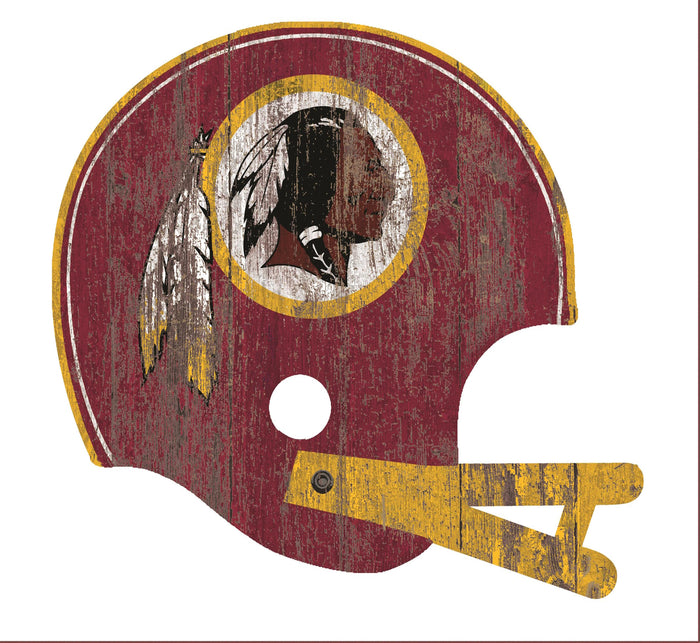 "Washington Redskins Distressed Helmet Cutout 24"" Wall Art"