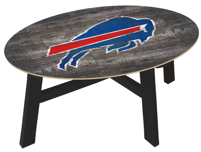 Buffalo Bills Logo Distressed Wood Coffee Table