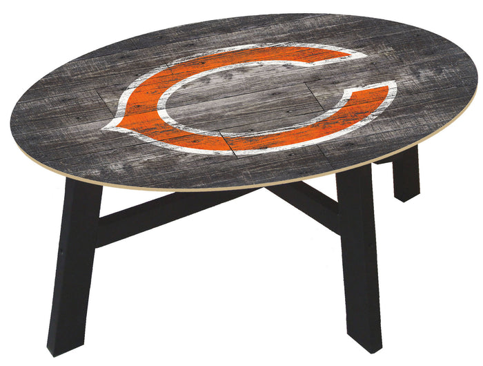 Chicago Bears  Logo Distressed Wood Coffee Table