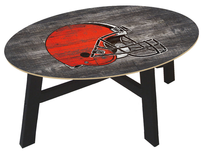 Cleveland Browns  Logo Distressed Wood Coffee Table