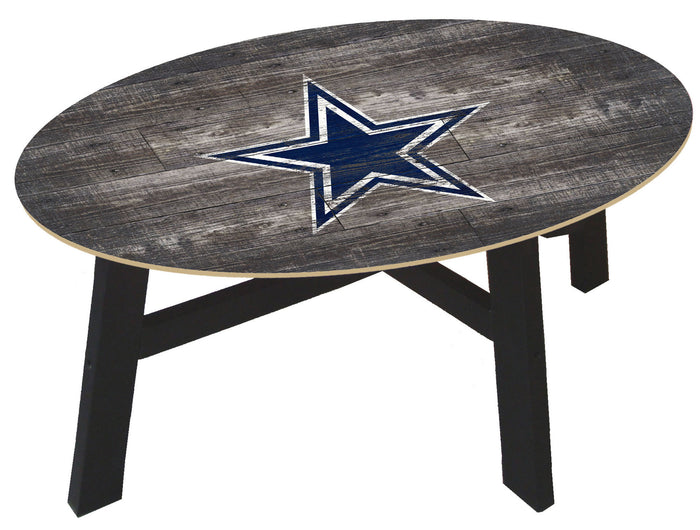 Dallas Cowboys Logo Distressed Wood Coffee Table