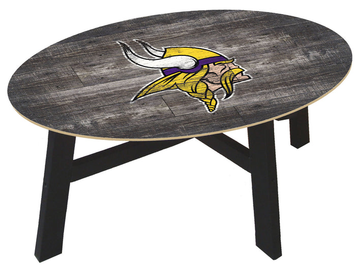 Minnesota Vikings Distressed Wood Coffee Table