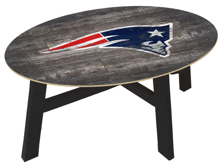 New England Patriots Distressed Wood Coffee Table
