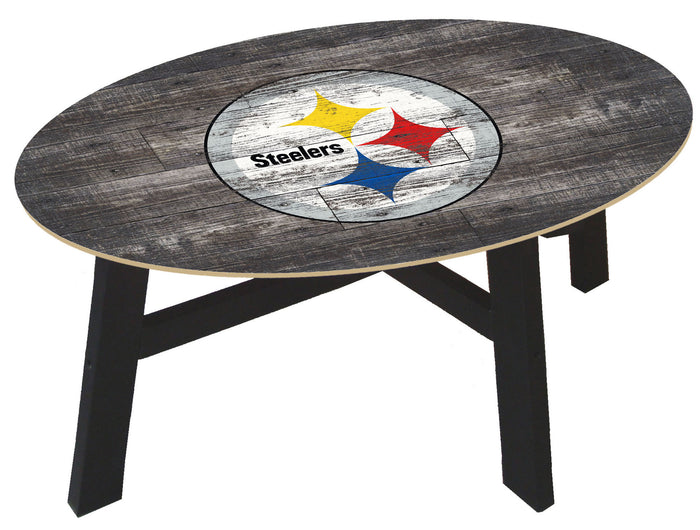 Pittsburgh Steelers Distressed Wood Coffee Table