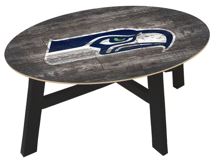 Seattle Seahawks Distressed Wood Coffee Table