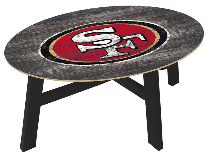 San Francisco 49ers Distressed Wood Coffee Table