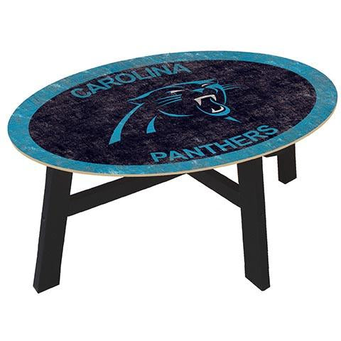Carolina Panthers Logo  Coffee table with team color