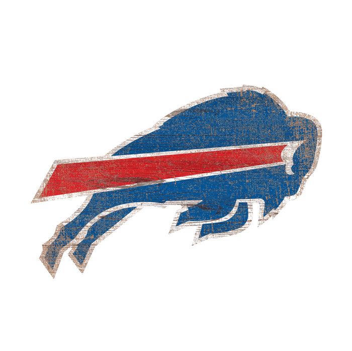 "Fan Cave Rugs:Buffalo Bills Distressed Logo Cutout 24"" Sign"