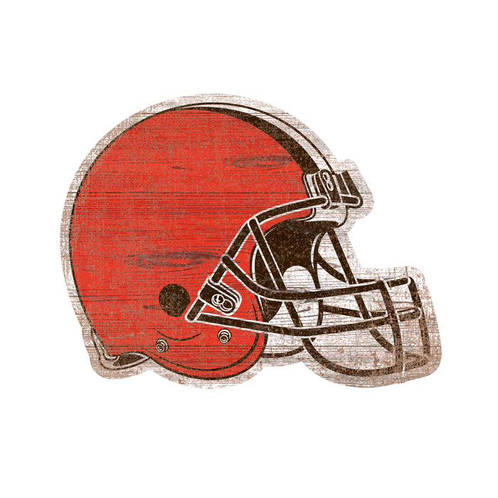 "Fan Cave Rugs:Cleveland Browns Distressed Logo Cutout 24"" Sign"