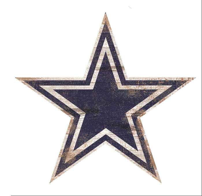 "Fan Cave Rugs:Dallas Cowboys Distressed Logo Cutout 24"" Sign"