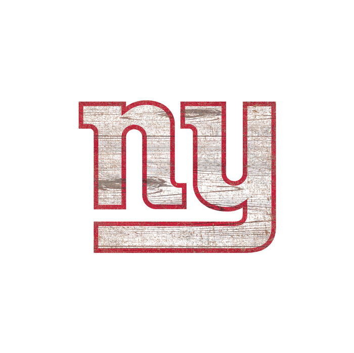 "New York Giants Distressed Logo Cutout 24"" Sign"