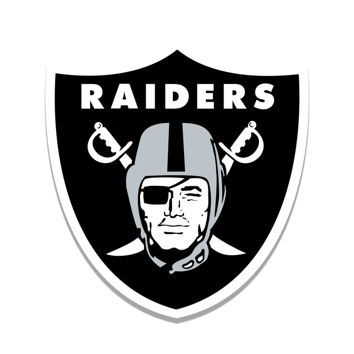 "Oakland Raiders Distressed Logo Cutout 24"" Sign"
