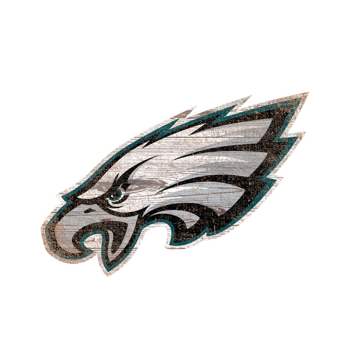 "Philadelphia Eagles Distressed Logo Cutout 24"" Sign"