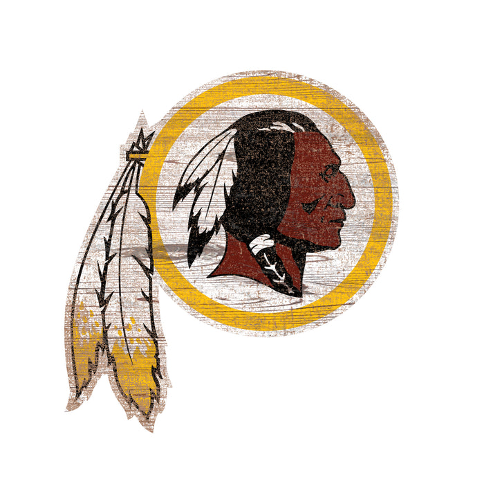 "Washington Redskins Distressed Logo Cutout 24"" Sign"