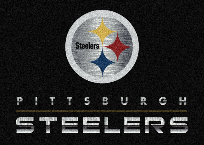 Pittsburgh Steelers Chrome Rug Black