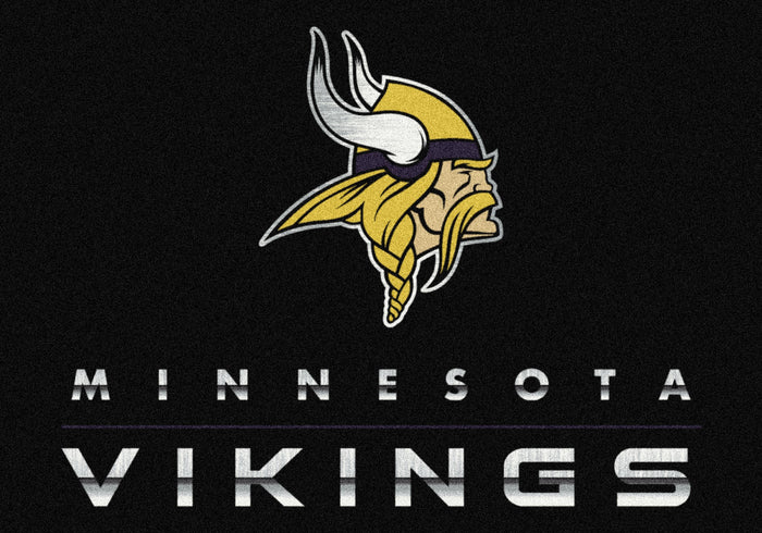 Minnesota Vikings Rug Chrome