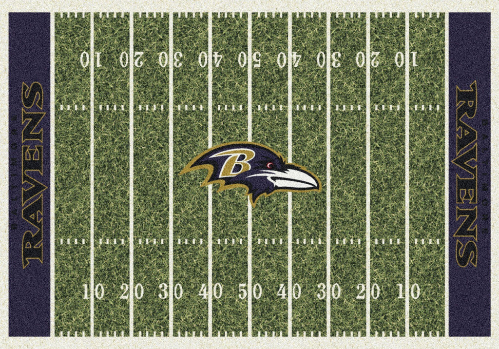 Fan Cave Rugs:Baltimore Ravens Rug Team Home Field