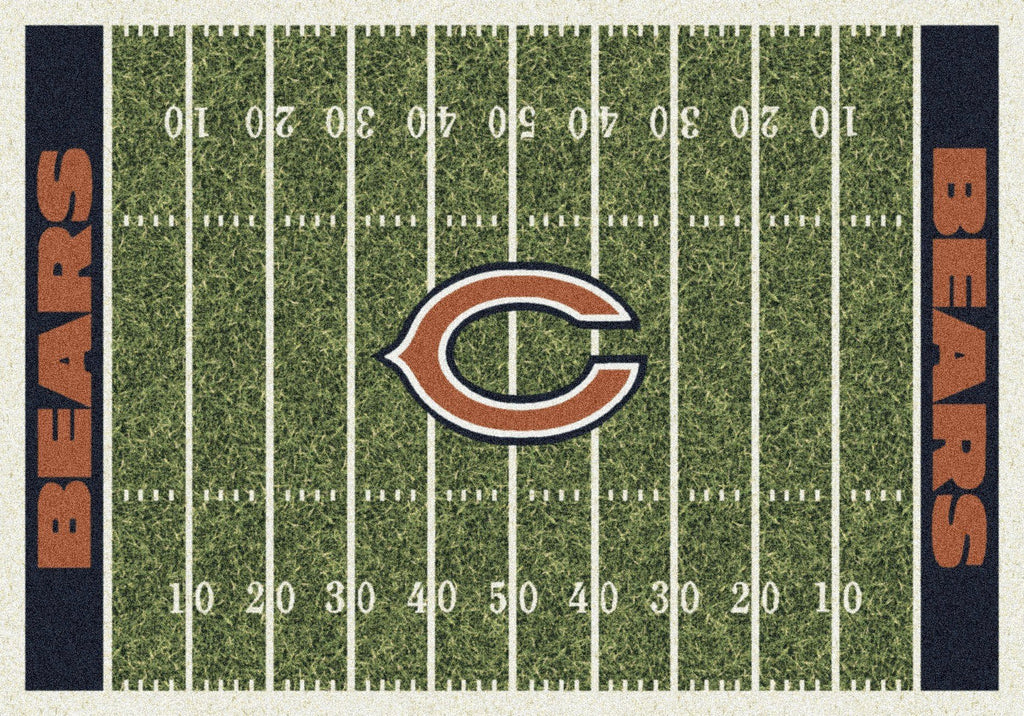 Fan Cave Rugs:Chicago Bears Rug Team Home Field