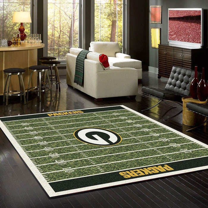Green Bay Packers home field NFL Rug fan cave rugs