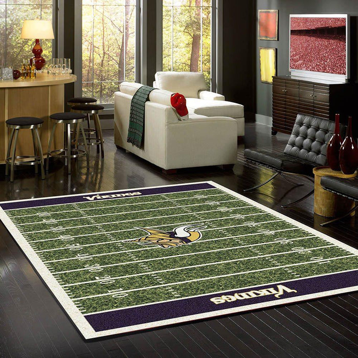 Minnesota Vikings Rug Team Home Field