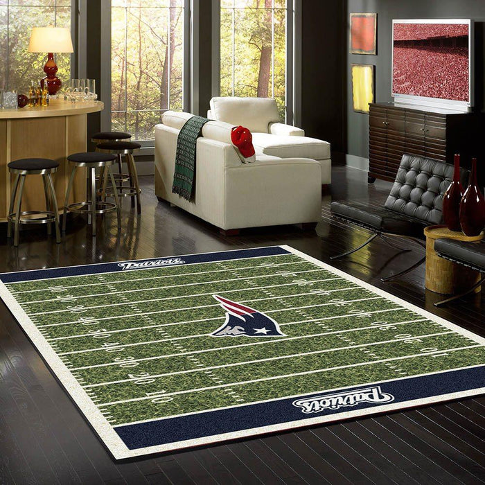 New England Patriots Rug Team Home Field