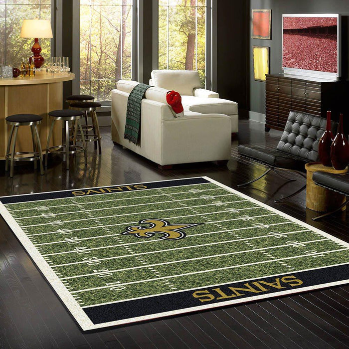 New Orleans Saints Rug Team Home Field