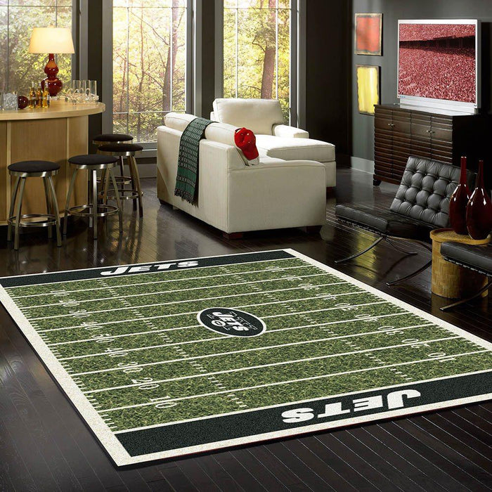 New York Jets Rug Team Home Field