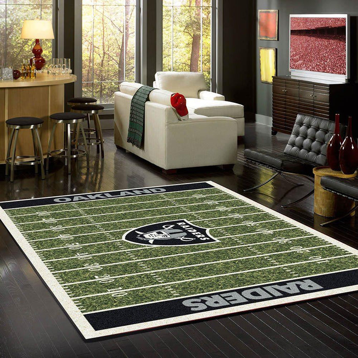 Oakland Raiders Rug Team Home Field