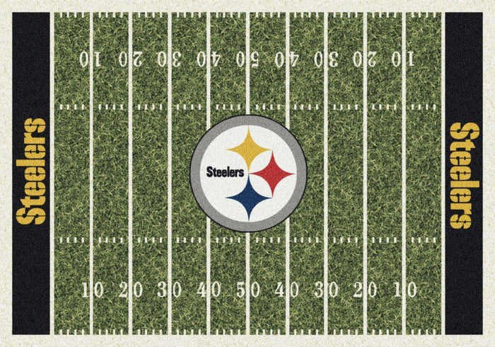 Pittsburgh Steelers Football Field Rug From Fan Cave Rugs
