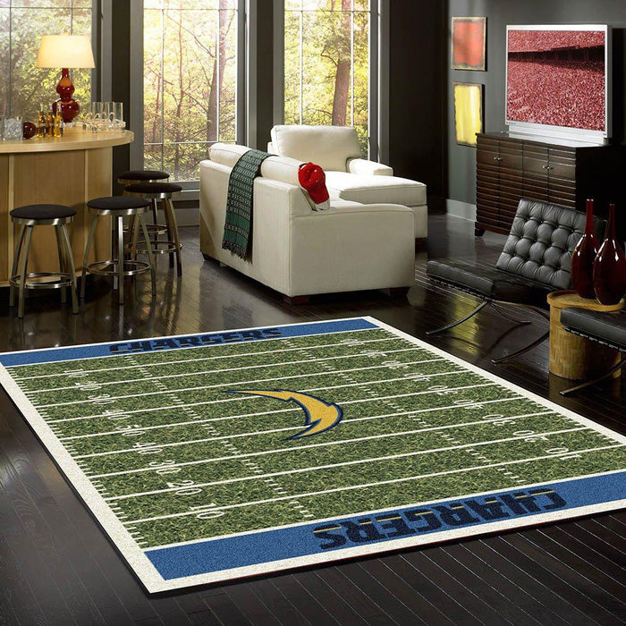 Los Angeles Chargers Rug Team Home Field
