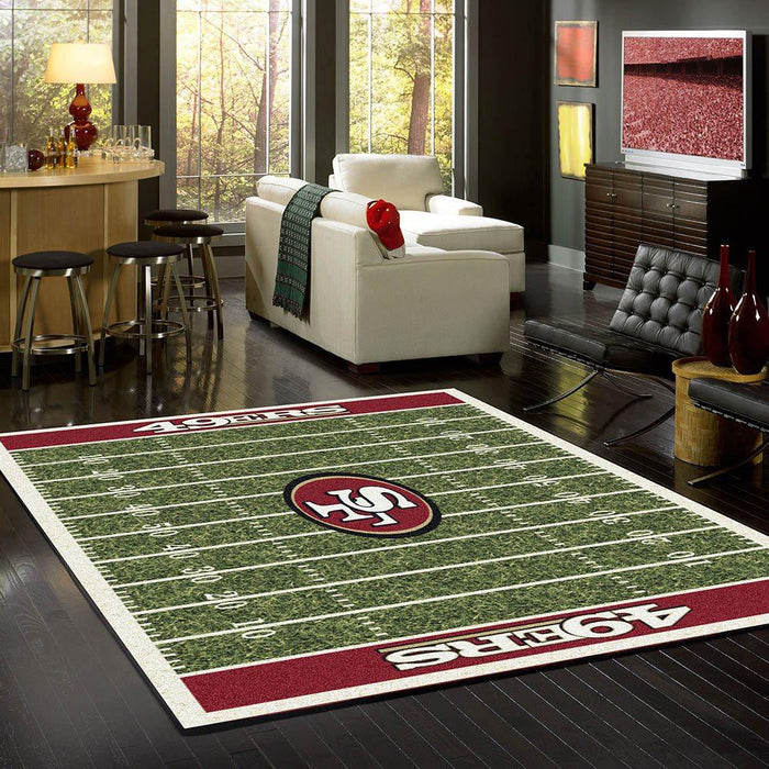 San Francisco 49er home field rug from Fan cave rugs