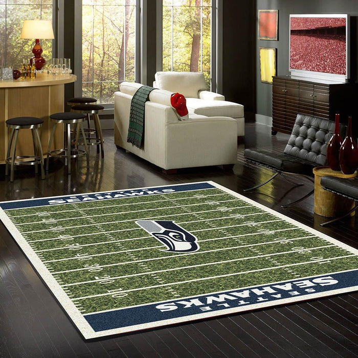 Seattle Seahawks Rug Team Home Field