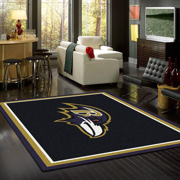 Fan Cave Rugs:Baltimore Ravens Rug Team Spirit