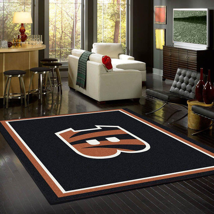 Fan Cave Rugs:Cincinnati Bengals Rug Team Spirit