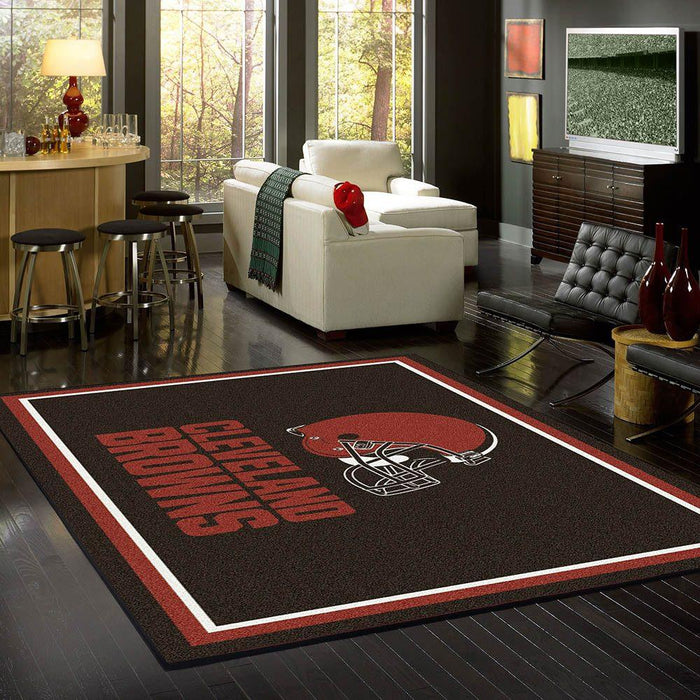 Fan Cave Rugs:Cleveland Browns Rug Team Spirit