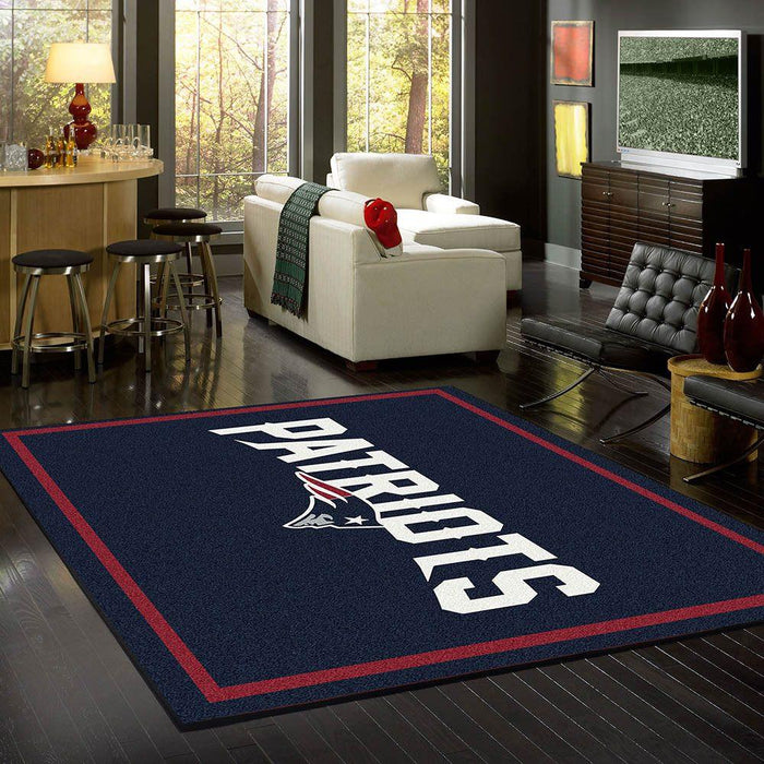 New England Patriots Rug Team Spirit