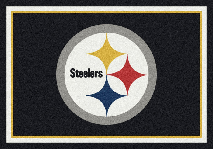 Pittsburgh Steelers Team Spirit Rug - fan cave rugs