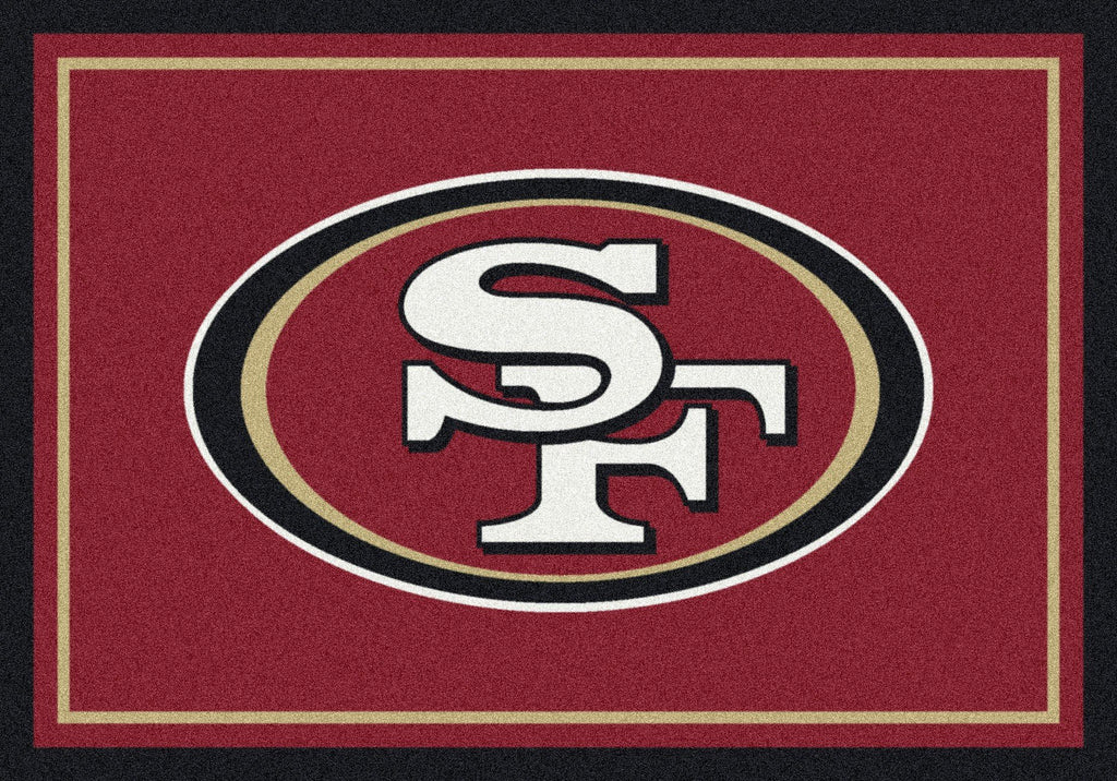 San Francisco 49ers Rug Team Spirit